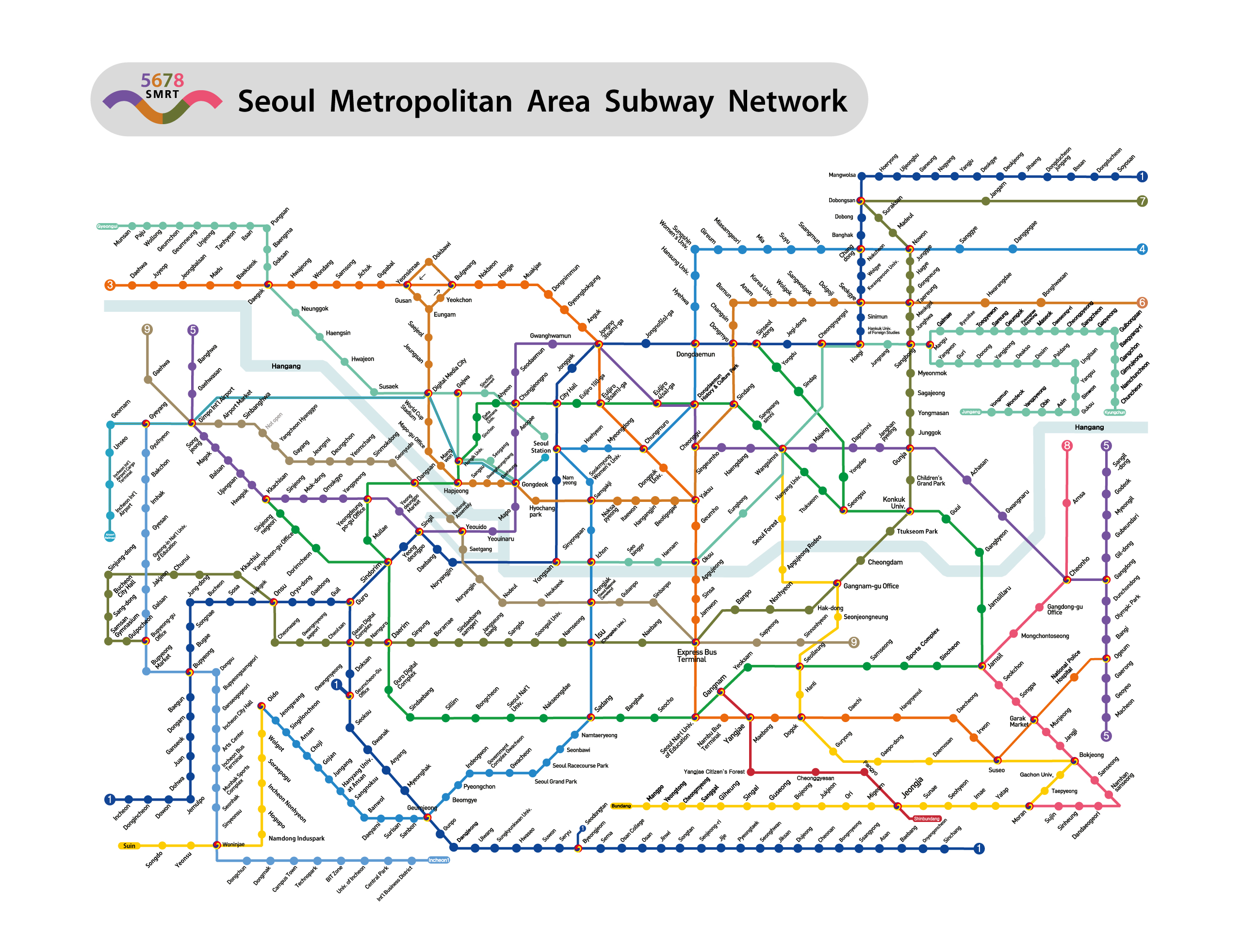 Seoul Subway Map Poster.7th International Namis Autumn School In Seoul Namis An